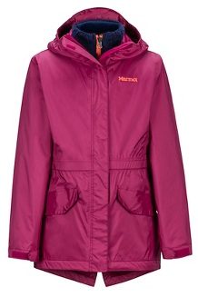 Girls' Precip Eco Component 3-in-1 Jacket, Purple Berry, medium