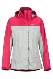 Women's PreCip Eco Jacket, Platinum/Disco Pink, medium