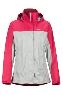 Women's PreCip Eco Jacket, Platinum/Disco Pink, medium