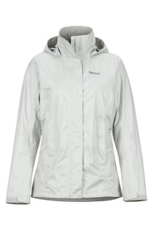 Women's PreCip Eco Jacket, Platinum, medium