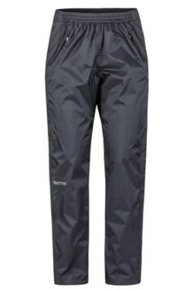 Women's PreCip Eco Full-Zip Pants - Short, Black, medium