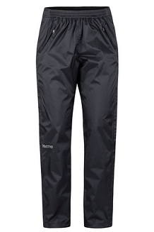 Women's PreCip Eco Full-Zip Pants, Black, medium