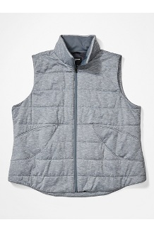 Women's Visita Insulated Vest Plus, Steel Onyx Heather, medium