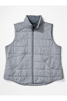 Women's Visita Insulated Vest Plus, Steel Onyx Heather, medium