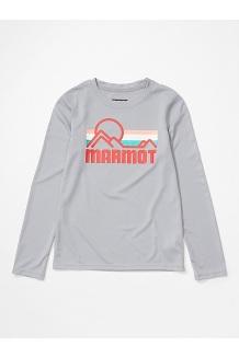 Girls' Windridge Long-Sleeve Shirt, Sleet, medium