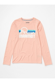 Girls' Windridge Long-Sleeve Shirt, Pink Lemonade, medium