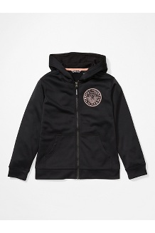 Girls' Whitney Hoody, Black, medium