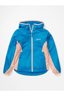 Girls' Trail Wind Hoody, Classic Blue/Pink Lemonade, medium