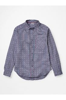 Women's Seaside Ultra Lightweight Flannel Long-Sleeve Shirt, Arctic Navy, medium