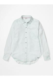 Women's Seaside Ultra Lightweight Flannel Long-Sleeve Shirt, Hazy Afternoon, medium