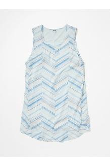 Women's Estel Dress, Hazy Afternoon Chevron Dots, medium
