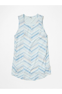 Women's Estel Dress, Hazy Afternoon Chevron Dots, medium