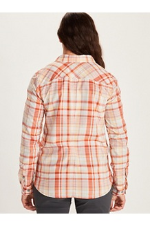 Women's Aella Long-Sleeve Shirt, Amber, medium