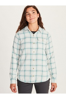 Women's Pescano Long-Sleeve Shirt, Papyrus, medium