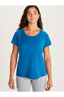 Women's Neaera Short-Sleeve Shirt, Classic Blue, medium