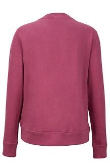 Women's Crew Neck Sherpa Sweatshirt, Dry Rose, medium