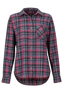 Women's Maggie Lightweight Flannel Long-Sleeve Shirt, Dark Steel, medium
