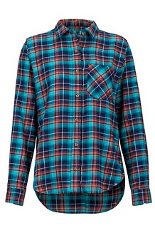 Women's Maggie Lightweight Flannel Long-Sleeve Shirt, Arctic Navy, medium