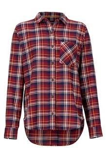 Women's Maggie Lightweight Flannel Long-Sleeve Shirt, Claret, medium