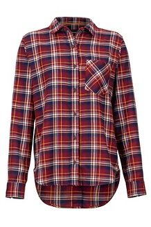 Women's Maggie Lightweight Flannel Long-Sleeve Shirt, Claret, medium