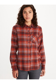 Women's Maggie Lightweight Flannel Long-Sleeve Shirt, Picante, medium