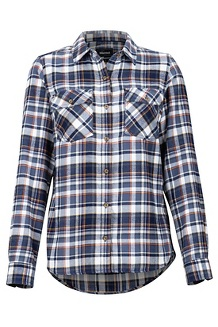 Women's Bridget Midweight Flannel Long-Sleeve Shirt, Slate Grey, medium