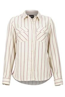 Women's Bridget Midweight Flannel Long-Sleeve Shirt, Turtledove, medium