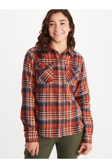 Women's Bridget Midweight Flannel Long-Sleeve Shirt, Picante, medium