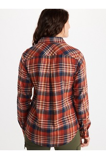Women's Bridget Midweight Flannel Long-Sleeve Shirt, Black, medium