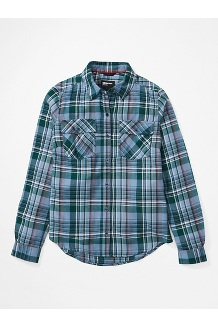 Women's Bridget Midweight Flannel Long-Sleeve Shirt, Dusk, medium
