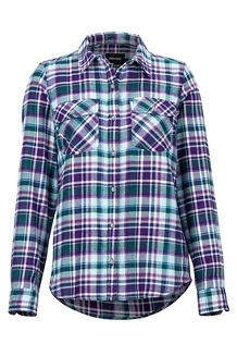 Women's Bridget Midweight Flannel Long-Sleeve Shirt, Acai, medium