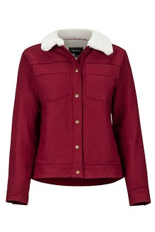 Women's Ridgefield Sherpa Lined Long-Sleeve Jacket, Claret, medium