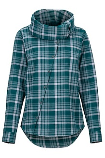 Women's Aldasoro Lightweight Flannel Long-Sleeve Shirt, Deep Teal, medium