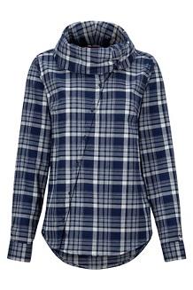 Women's Aldasoro Lightweight Flannel Long-Sleeve Shirt, Arctic Navy, medium