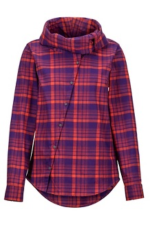 Women's Aldasoro Lightweight Flannel Long-Sleeve Shirt, Acai, medium