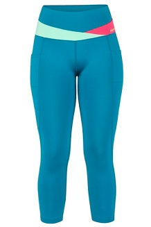 Women's Cliff Climber Capris, Late Night/Double Mint, medium