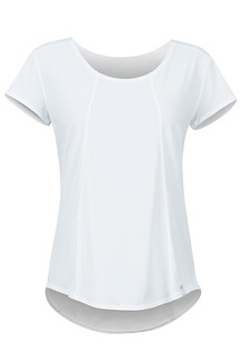 Women's Tula SS Shirt, White, medium