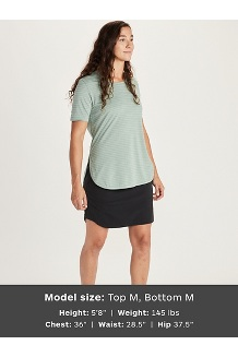 Women's Ellie SS Shirt, Black, medium