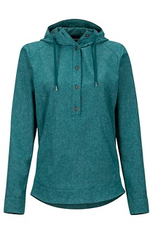 Women's Lorey Hoody, Deep Teal, medium