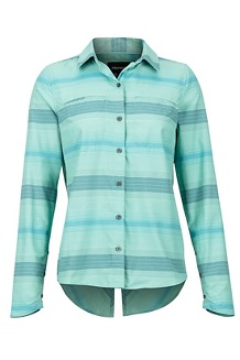 Women's Aeolian LS Shirt, Pond Green, medium