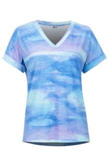 Women's Asilomar SS Shirt, Paisley Purple Shale, medium