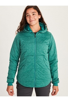 Women's Visita Insulated Hoody, Deep Jungle Heather, medium