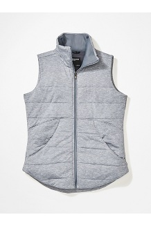 Women's Visita Insulated Vest, Steel Onyx Heather, medium