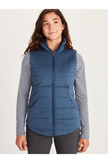 Women's Visita Insulated Vest, Arctic Navy Heather, medium