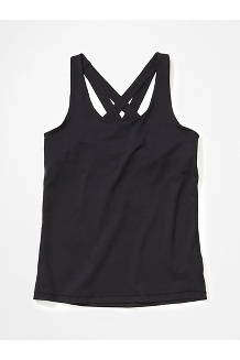 Women's Leda Tank Top, Black, medium