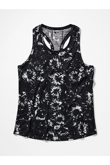 Women's Beta Tank Top, Black Exploding Flowers, medium