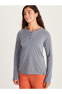 Women's Mt. Shasta Long-Sleeve Shirt, Steel Onyx Heather, medium
