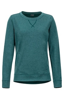 Women's Laurel Long-Sleeve Shirt, Deep Teal Heather, medium