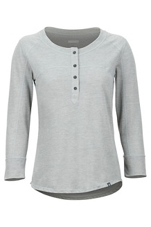 Women's Kerr 3/4-Sleeve Henley, Grey Storm, medium