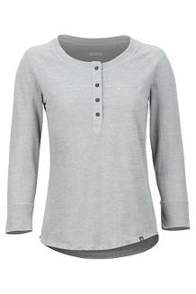 Women's Kerr 3/4-Sleeve Henley, Grey Storm, medium